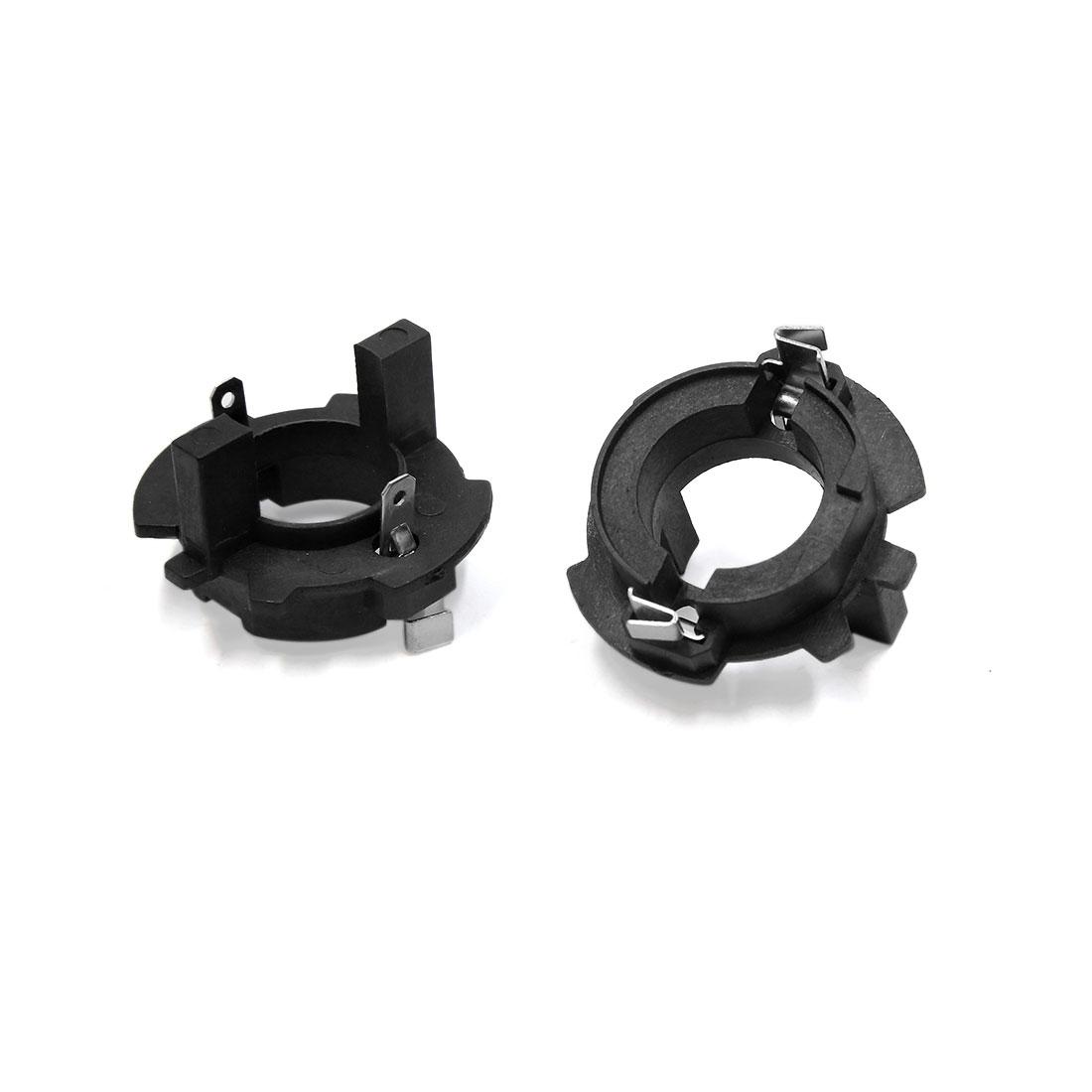 2 Pcs H7 HID Xenon Headlight Bulb Holder Adapter Base for VW Jetta Touran