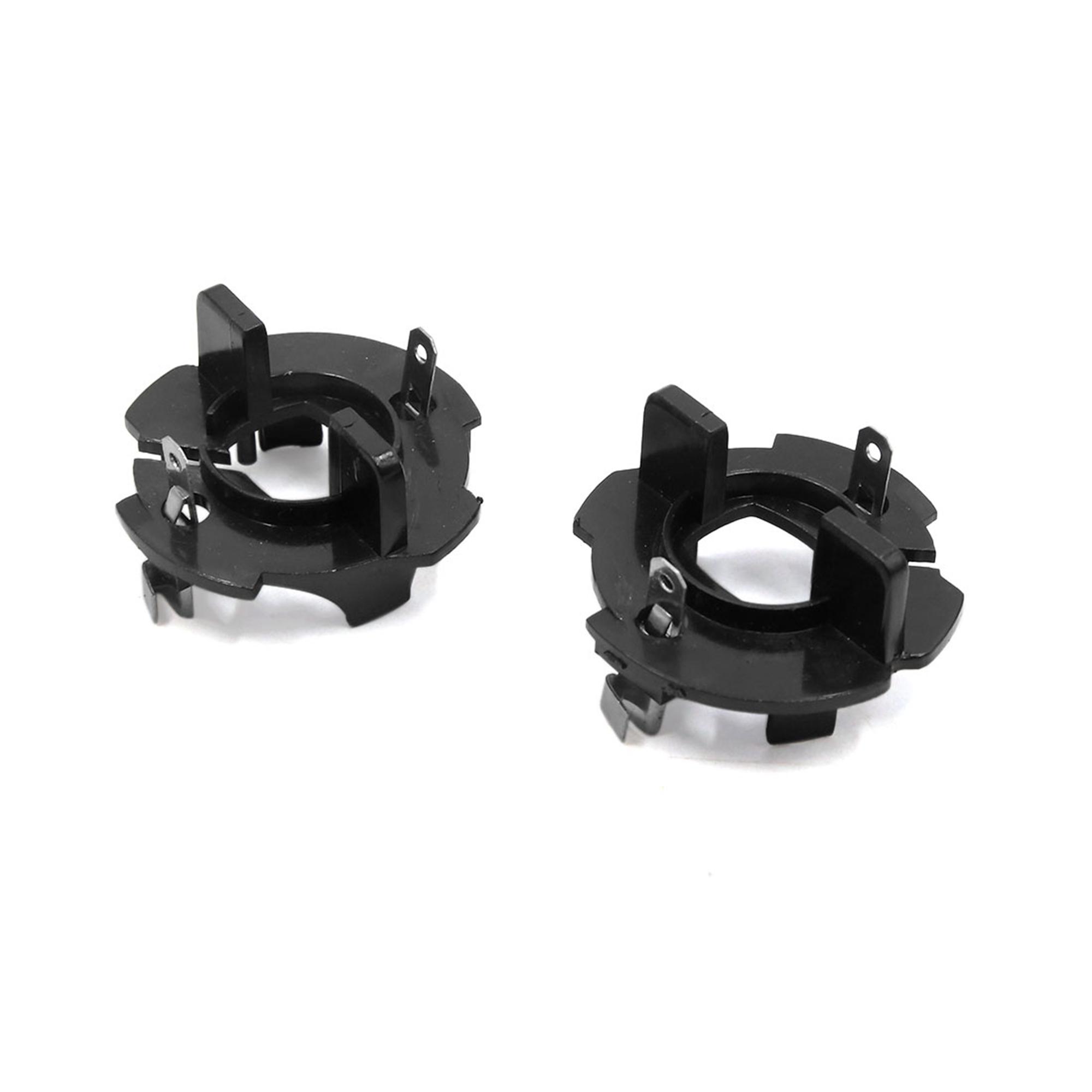 2 Pcs Plastic H7 LED Xenon Headlight Bulb Holder Adapter Base for Golf 5 Caddy