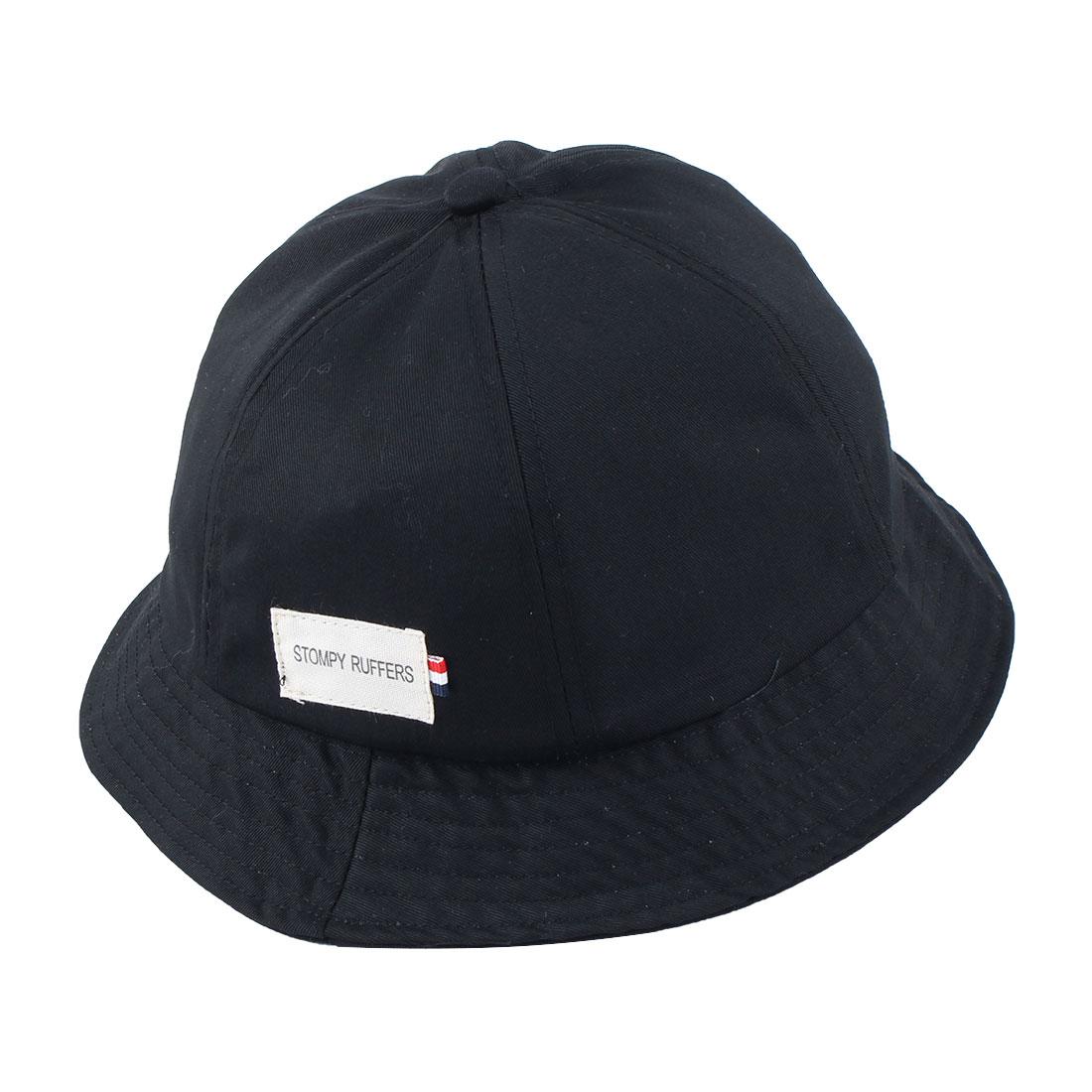 Fisherman Cotton Blends Climbing Travelling Wide Brim Protector Summer Cap Fishing Hat Black