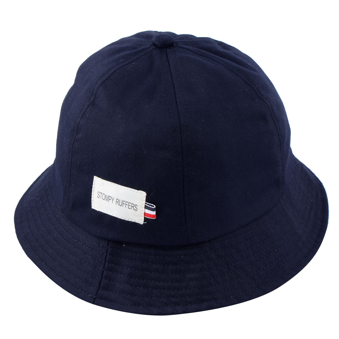 Fisherman Cotton Blends Outdoor Climbing Travelling Wide Brim Sun Protective Bucket Summer Cap Fishing Hat Navy Blue