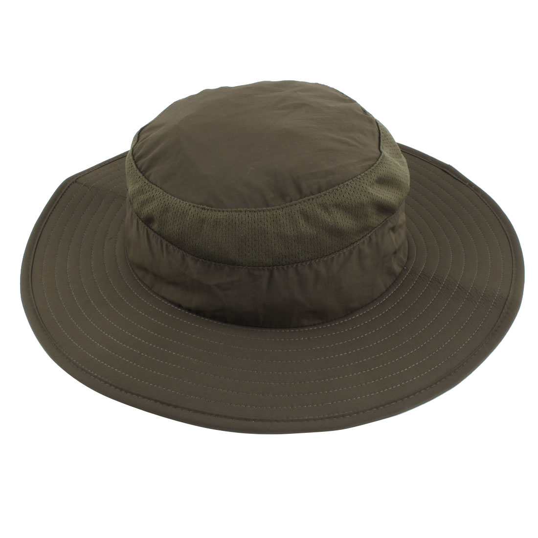 Fisherman Nylon Outdoor Sports Climbing Wide Brim Removable Neck Protector Cloth Bucket Summer Cap Fishing Hat Army Green
