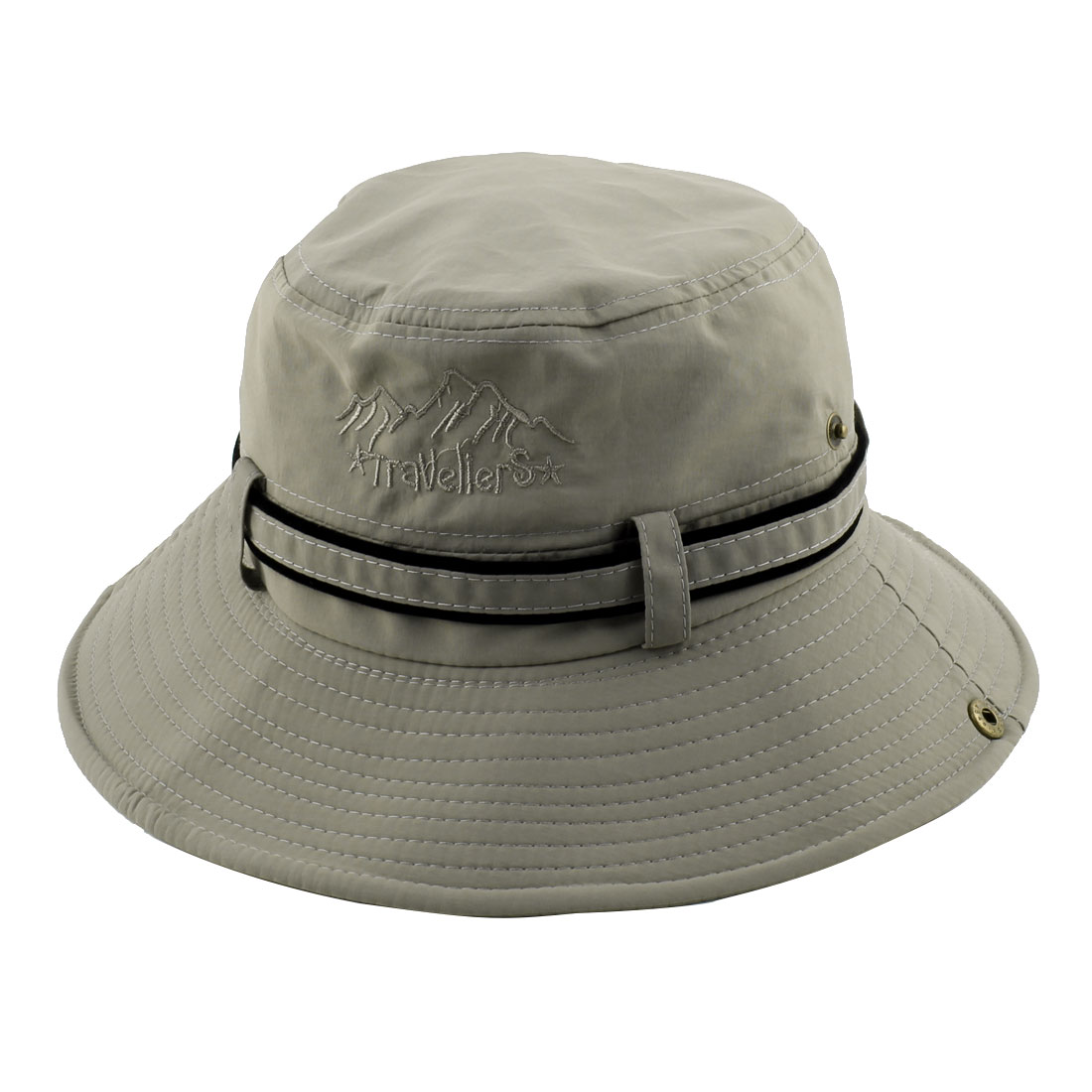 Fisherman Cotton Blends Outdoor Sports Climbing Hunting Adjustable Strap Wide Brim Bucket Summer Cap Fishing Hat Gary