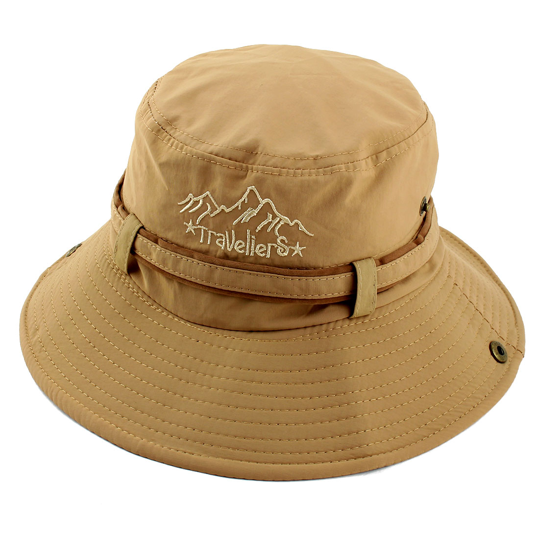 Fisherman Cotton Blends Outdoor Sports Climbing Hunting Adjustable Strap Wide Brim Bucket Summer Cap Fishing Hat Khaki