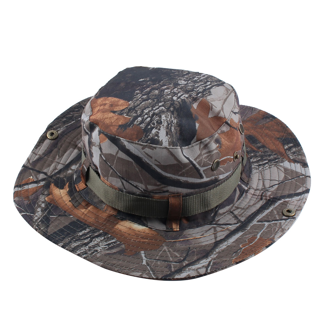 Fisherman Outdoor Sports Mountaineering Hunting Adjustable Strap Wide Brim Protector Bucket Summer Cap Fishing Hat Camouflage