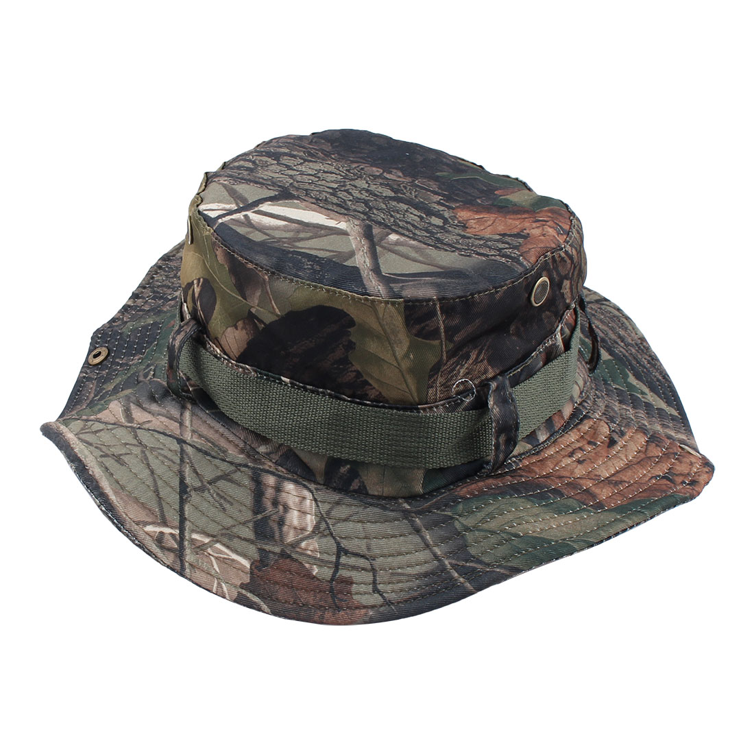 Fisherman Outdoor Sports Hunting Adjustable Strap Wide Brim Protector Bucket Summer Cap Fishing Hat Camouflage