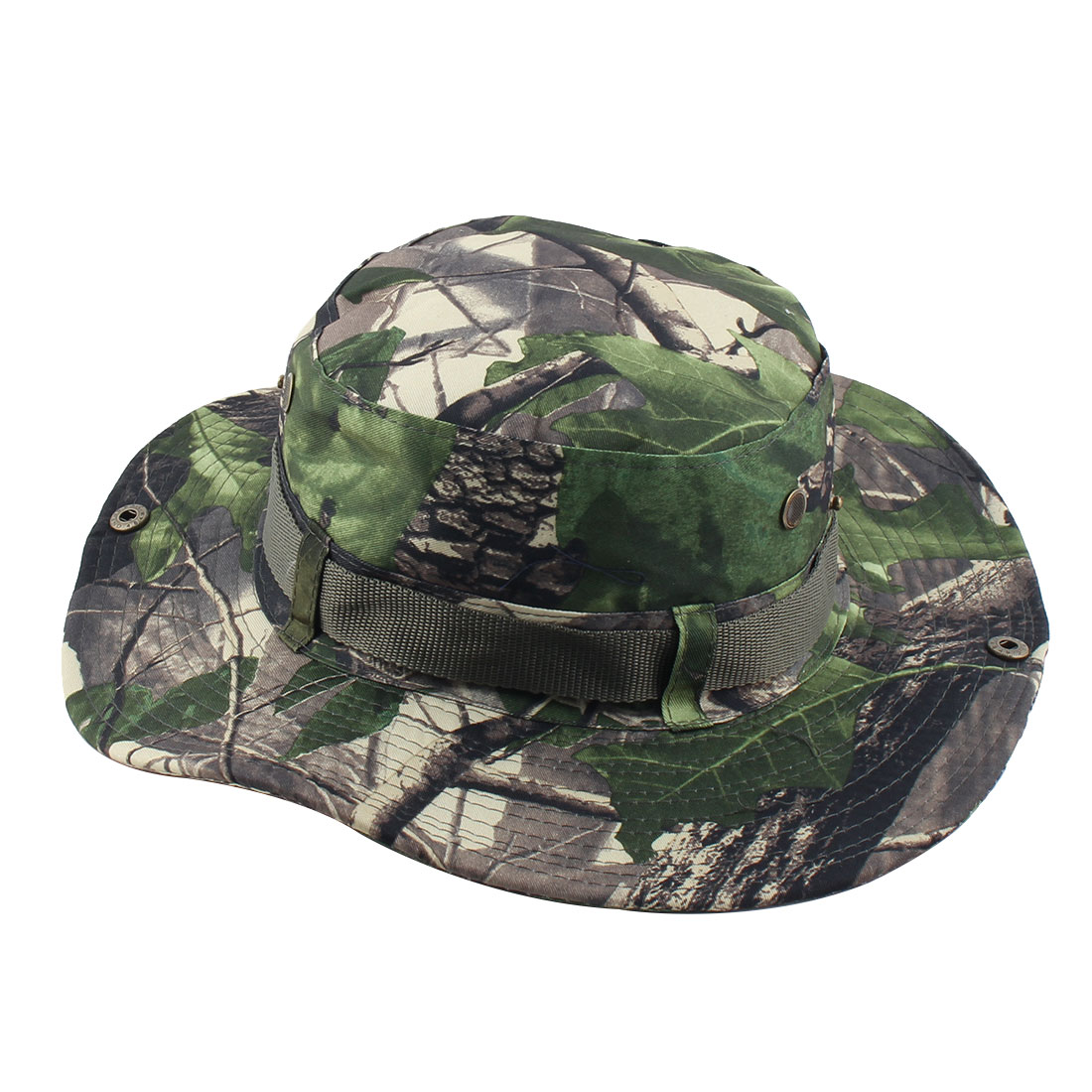 Fisherman Outdoor Sports Hiking Hunting Adjustable Strap Wide Brim Protector Bucket Summer Cap Fishing Hat Camouflage