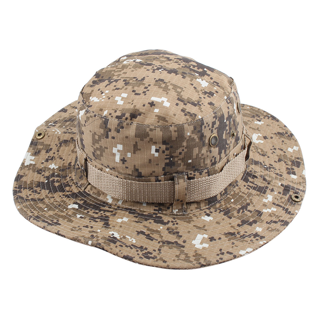 Fisherman Unisex Outdoor Fishing Hiking Hunting Wide Brim Summer Sun Protective Camouflage Cap Bucket Hat #1