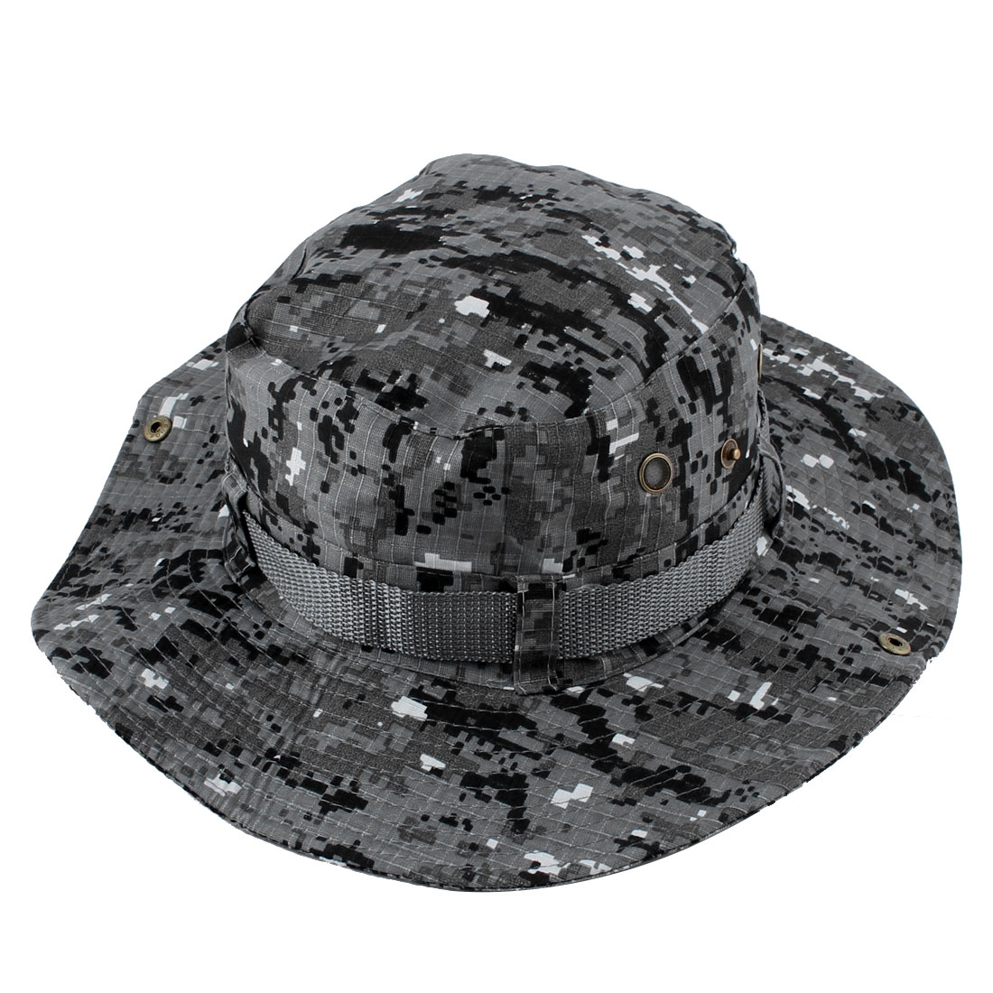 Fisherman Unisex Outdoor Fishing Hiking Hunting Wide Brim Summer Sun Protective Camouflage Cap Bucket Hat #3