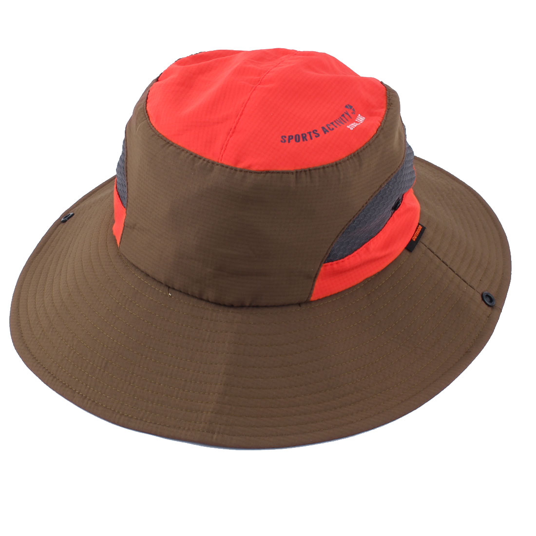 Fisherman Outdoor Fishing Travel Climbing Cycling Adjustable Folding Bucket Cap Floppy Hat Brown