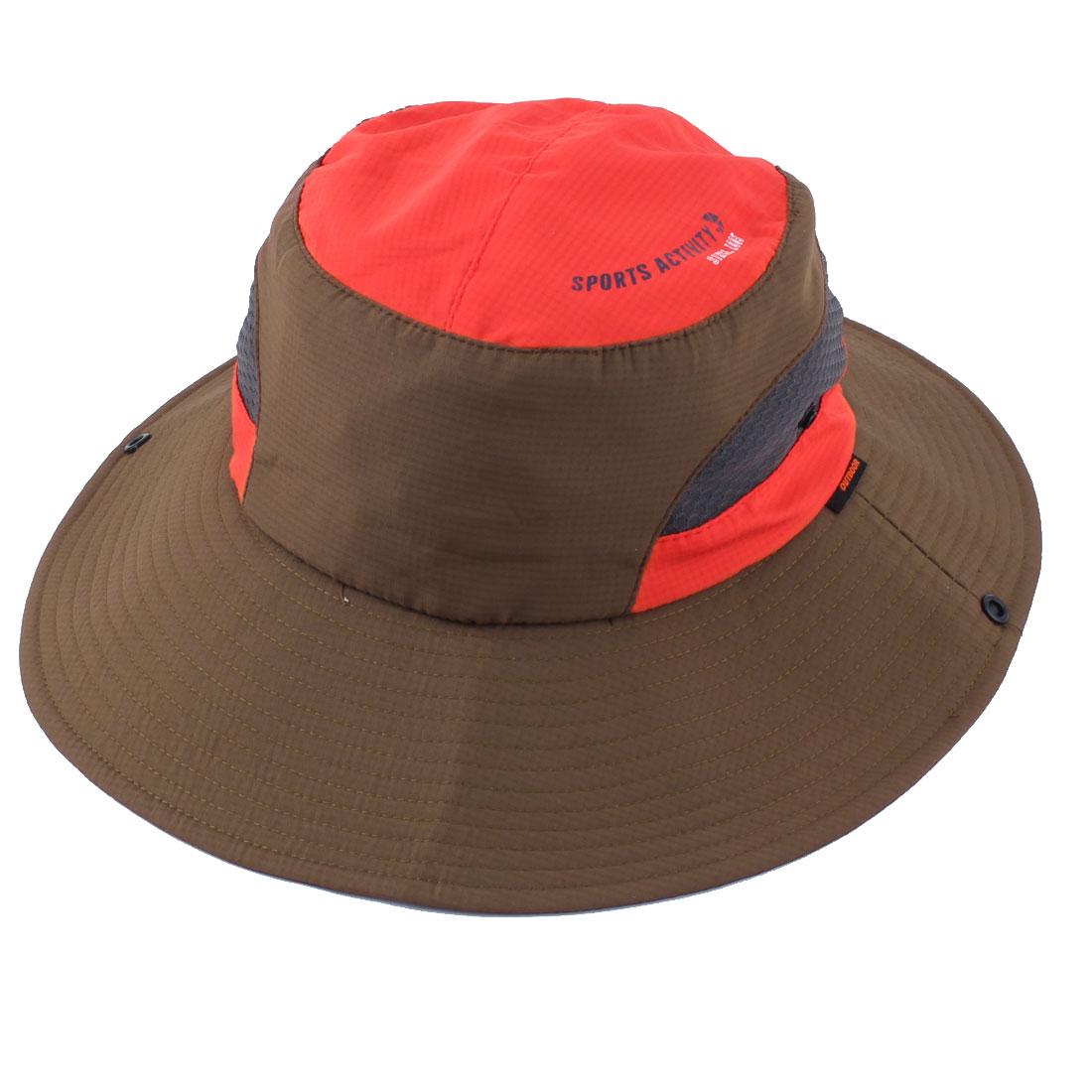 Fisherman Outdoor Fishing Travel Climbing Cycling Adjustable Folding Bucket Cap Floppy Hat Brown