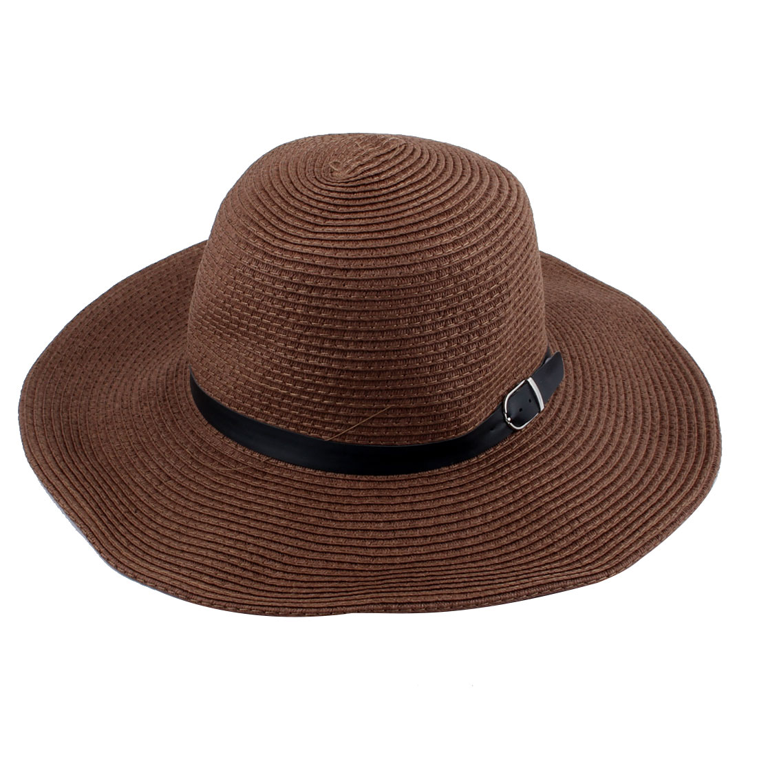 Fisherman Straw Outdoor Sports Adjustable Strap Wide Brim Sun Protector Boonie Summer Cap Fishing Hat Brown