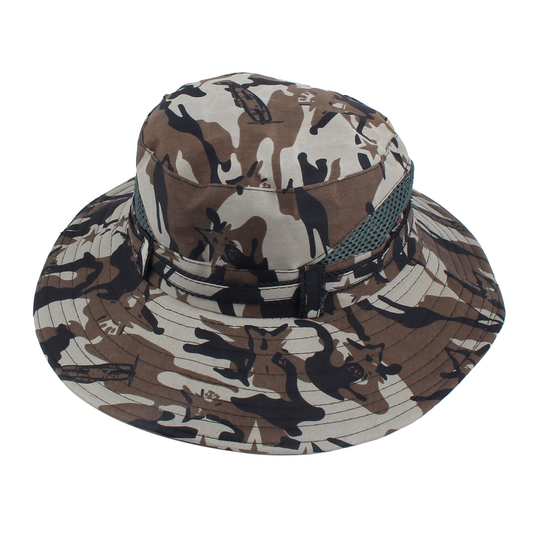 Fisherman Outdoor Sports Hiking Mountaineering Adjustable Strap Bucket Summer Cap Fishing Hat Camouflage