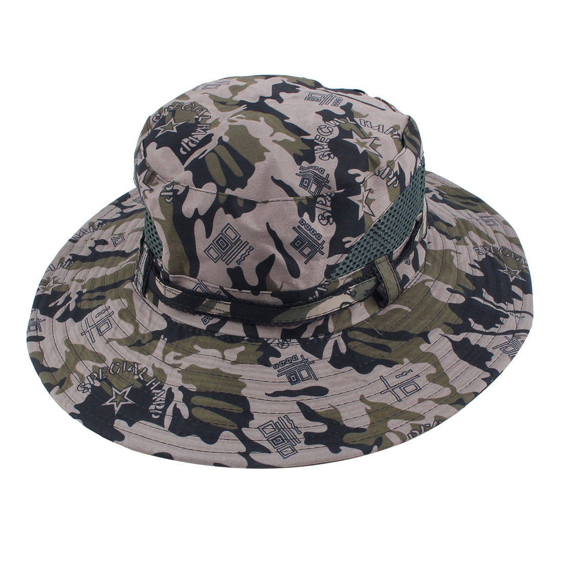 Fisherman Outdoor Sports Climbing Mountaineering Adjustable Strap Bucket Summer Cap Fishing Hat Camouflage
