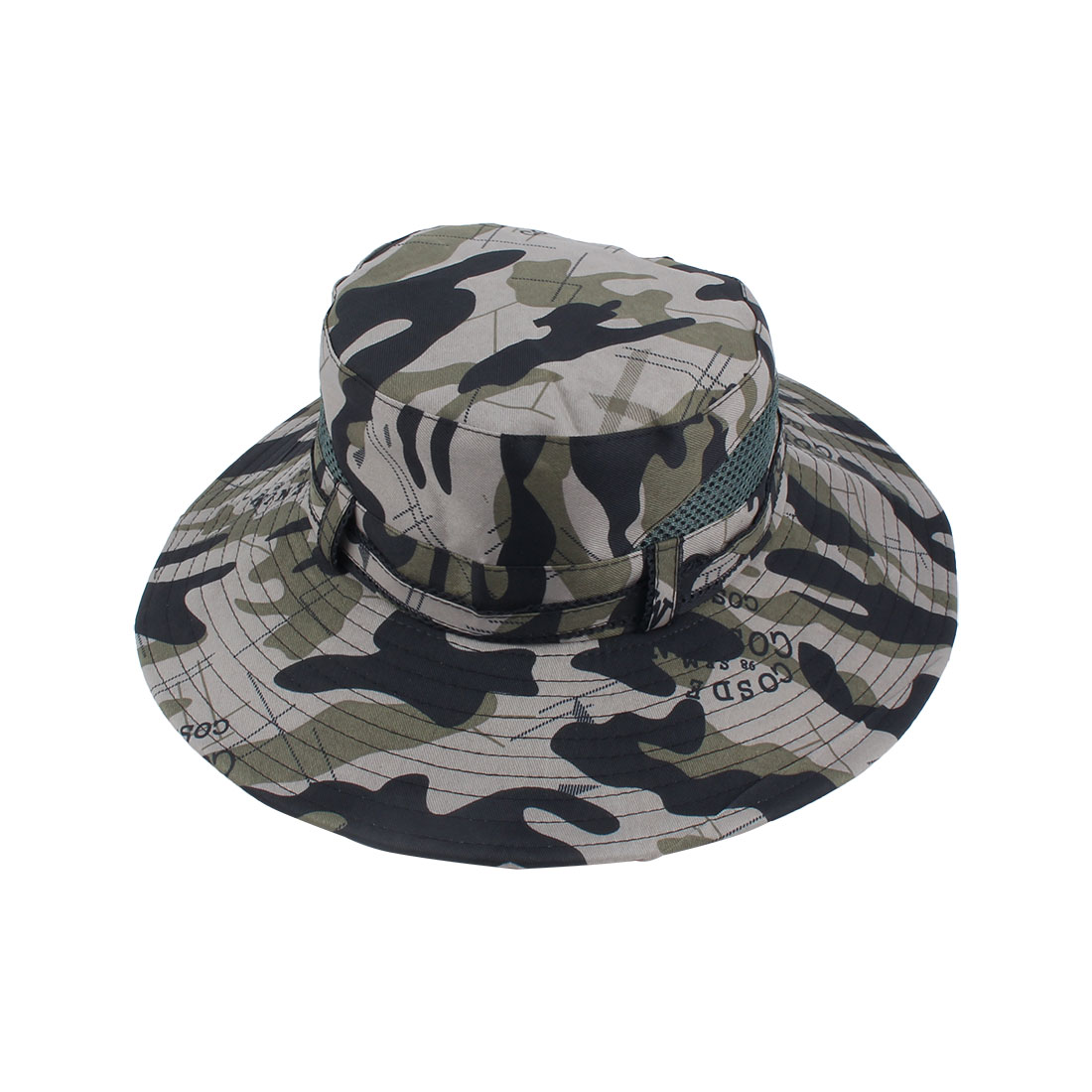 Fisherman Outdoor Sports Mountaineering Hunting Adjustable Strap Bucket Summer Cap Fishing Hat Camouflage