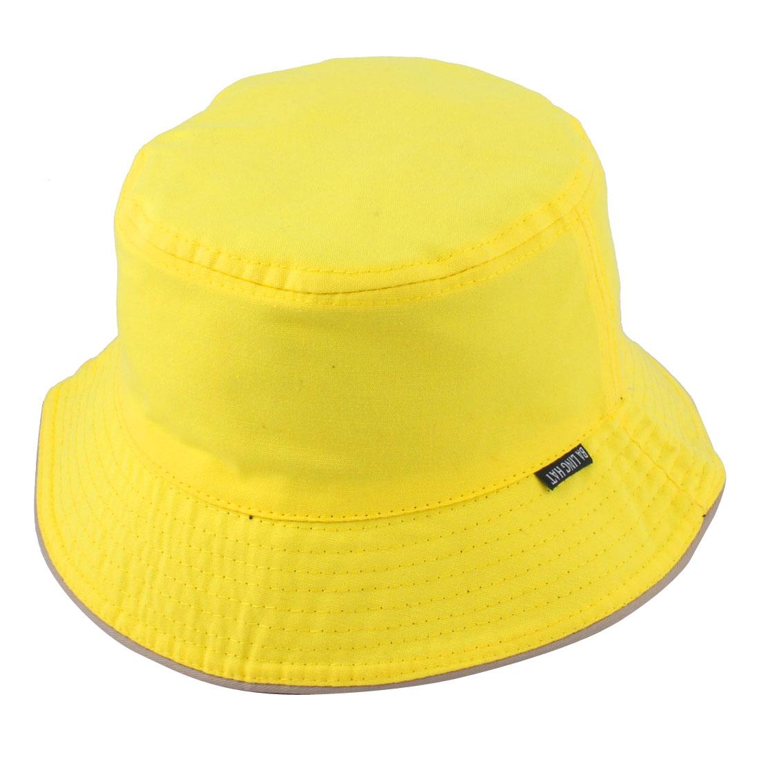 Fisherman Woman Outdoor Fishing Hiking Holiday Climbing Hunting Summer Sun Protective Cap Bucket Hat Yellow