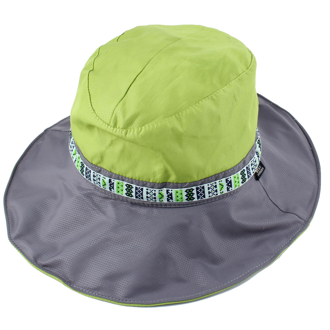 Fisherman Outdoor Fishing Travel Climbing Cycling Adjustable National Style Strap Wide Brim Floppy Cap Bucket Sun Hat Green
