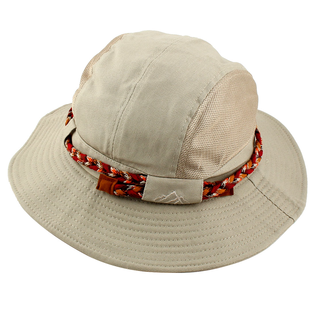 Fisherman Cotton Blends Climbing Hunting Adjustable Strap Wide Brim Protective Bucket Summer Cap Fishing Hat Beige