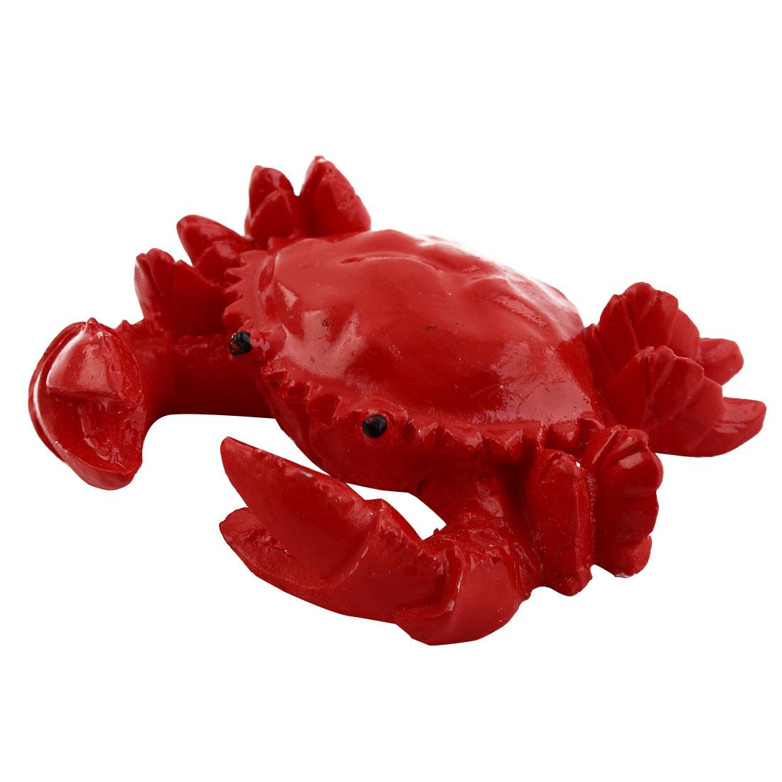 Aquarium Fish Tank Fishbowl Ceramic Underwater Crab Design Artificial Animal Ornament Red