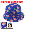Fisherman Outdoor Fishing Holiday Hiking Climbing Cycling Fruit Printed Wide Brim Cap Bucket Sun Hat Blue