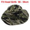 Fisherman Outdoor Sports Climbing Mountaineering Adjustable Strap Bucket Sun Summer Cap Fishing Hat Camouflage