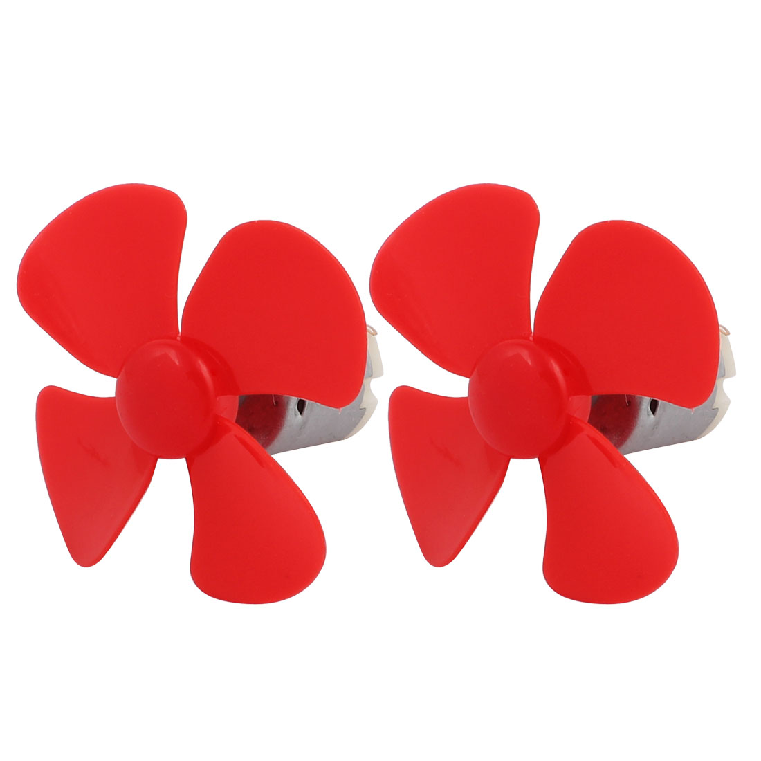 DC 6V 0.38A 7800RPM Strong Force Motor 4 Vanes Red Propeller 60mmx2mm 2Pcs