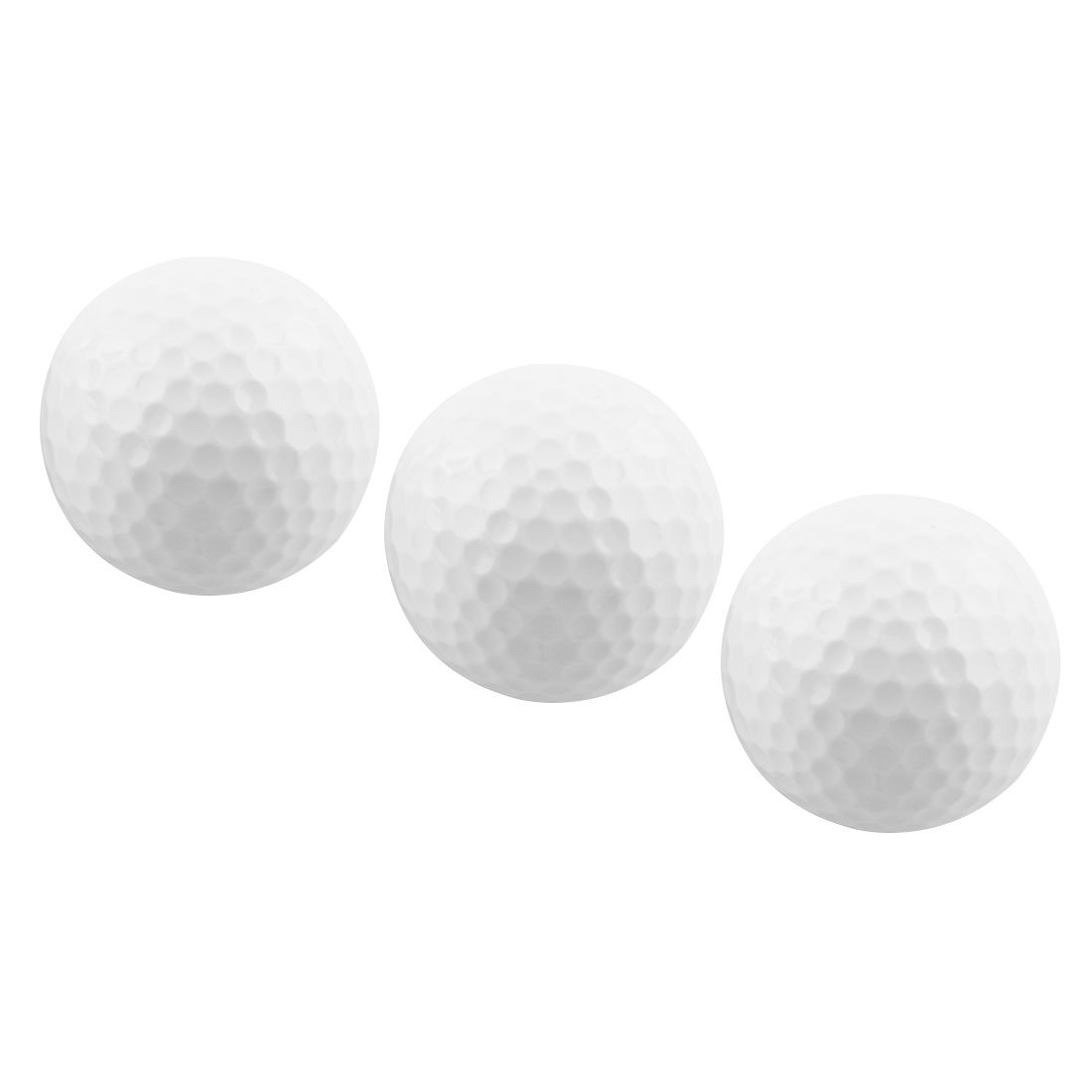 Outdoor Sports Resin Training Practice Golf Ball White 3 Pcs