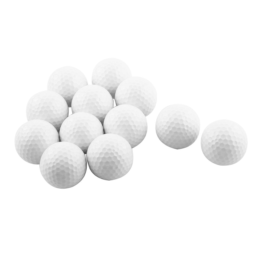 Outdoor Sports Resin Training Practice Golf Balls White 12 Pcs