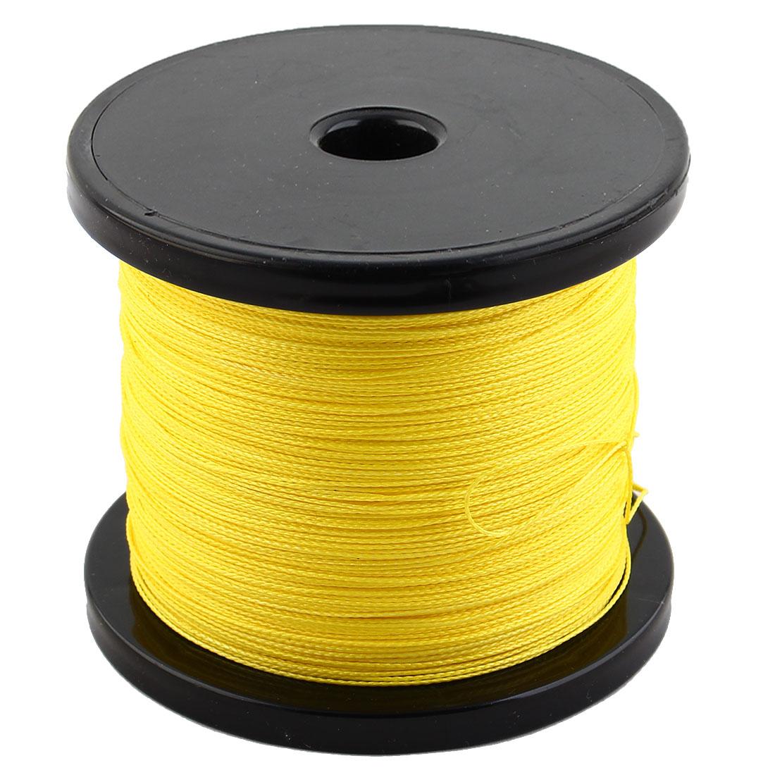 PE Braided Fishing Line Angling String Beading Thread Cord Yellow 500m Length