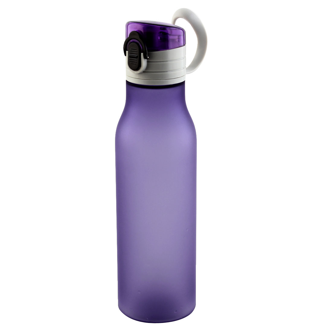 Outdoor Travel Plastic Water Bottle Frosted Camping Cup Portable Juice Mug Biking Driving Kettle Purple 580ml