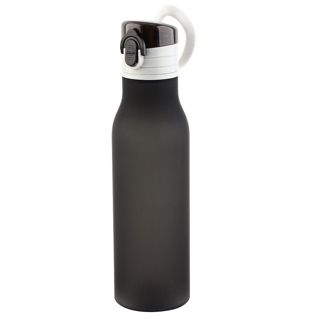 Outdoor Travel Plastic Water Bottle Frosted Camping Cup Portable Juice Mug Biking Driving Kettle Black 580ml