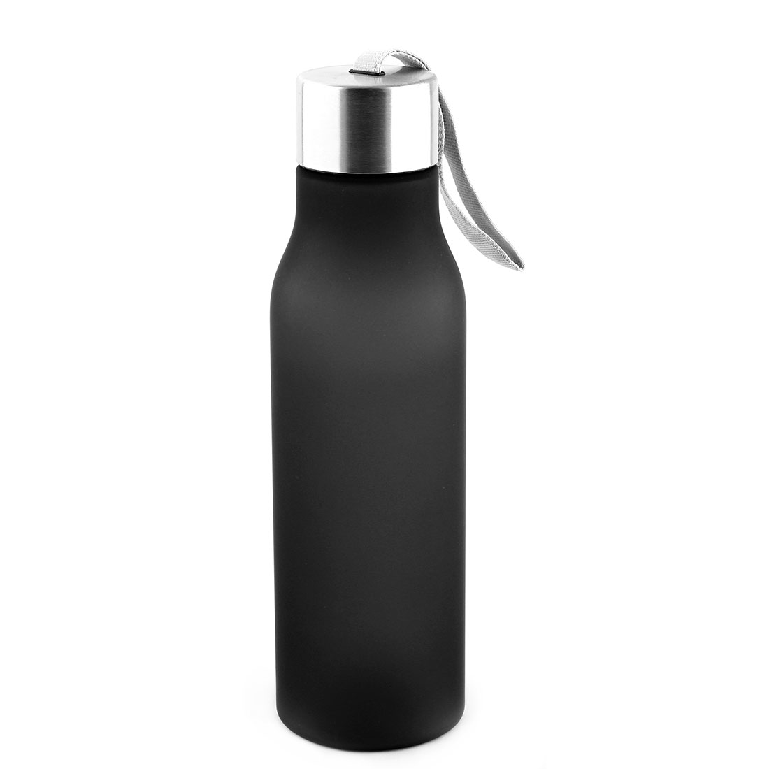 Outdoor Plastic Frosted Water Bottle Portable Fruit Juice Mug Running Cycling Cup Camping Hiking Kettle Black 570ml