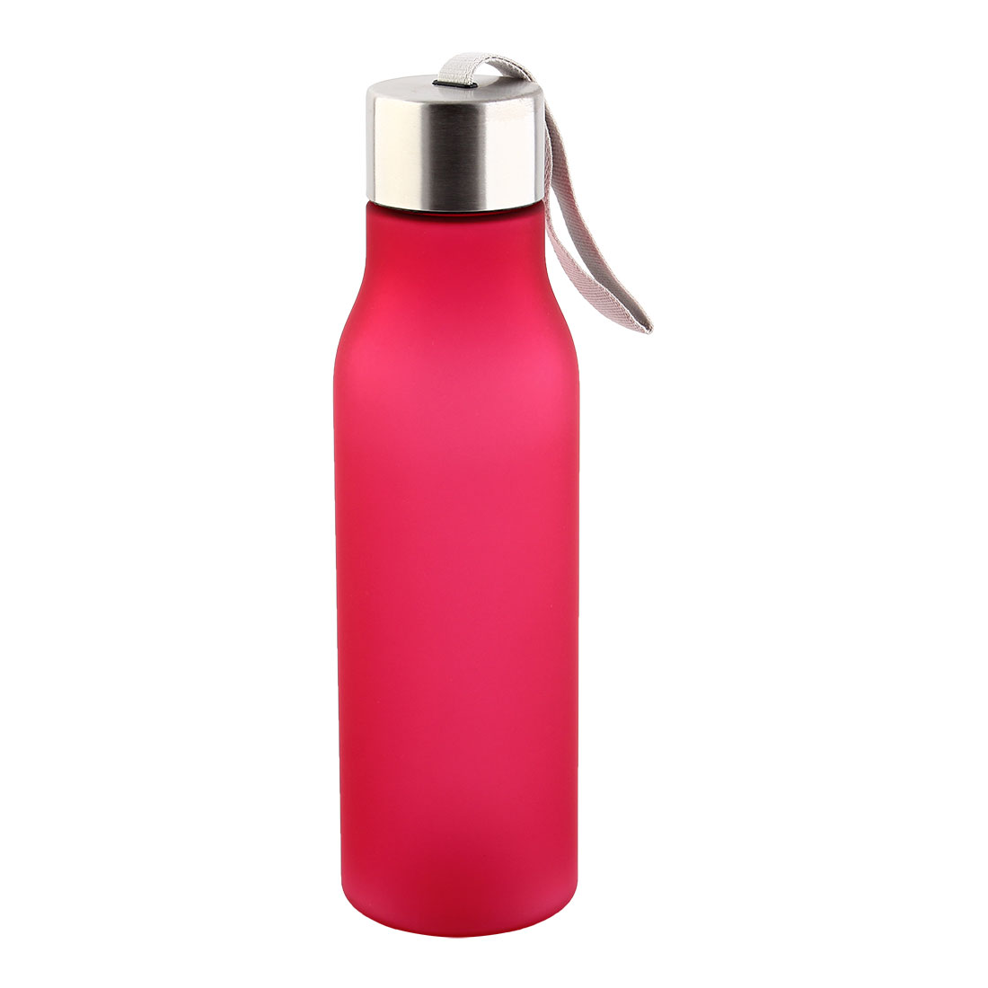 Outdoor Plastic Frosted Water Bottle Portable Fruit Juice Mug Running Cycling Cup Camping Hiking Kettle Fuchsia 570ml
