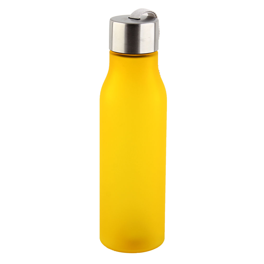 Outdoor Plastic Frosted Water Bottle Portable Fruit Juice Mug Running Cycling Cup Camping Hiking Kettle Yellow 570ml