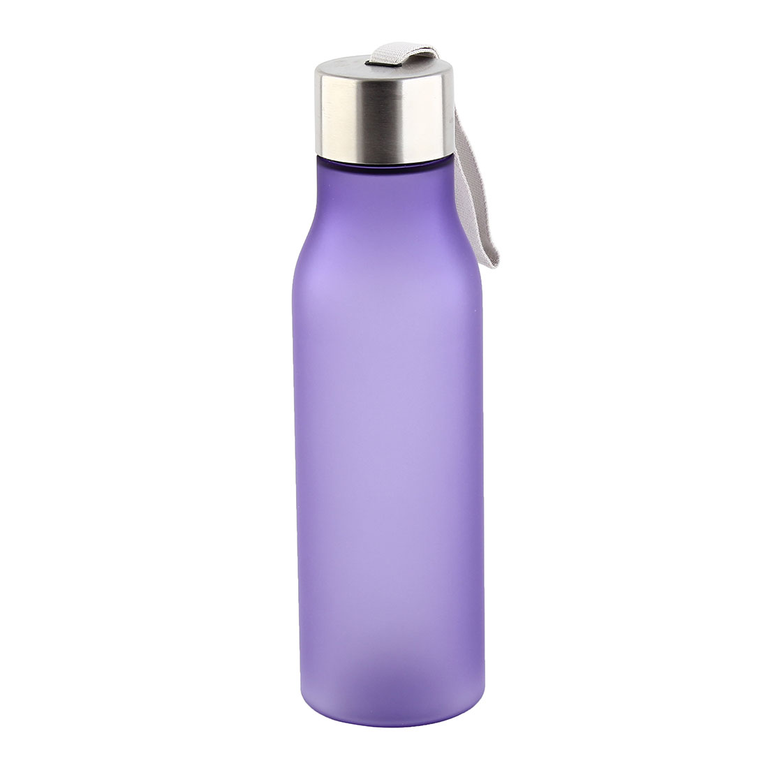 Outdoor Plastic Frosted Water Bottle Portable Fruit Juice Mug Running Cycling Cup Camping Hiking Kettle Purple 570ml