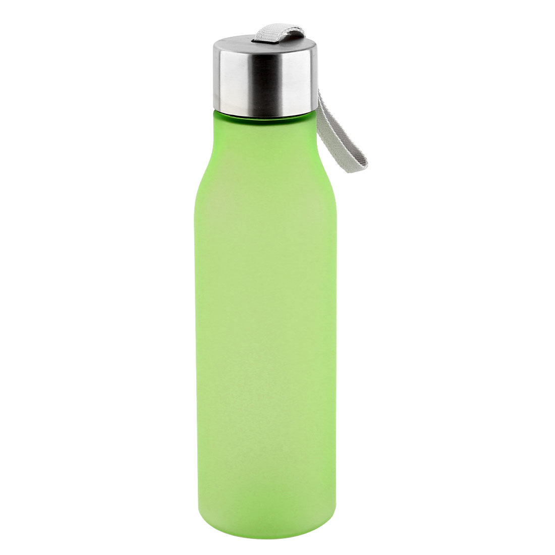 Outdoor Plastic Frosted Water Bottle Portable Fruit Juice Mug Running Cycling Cup Camping Hiking Kettle Green 570ml
