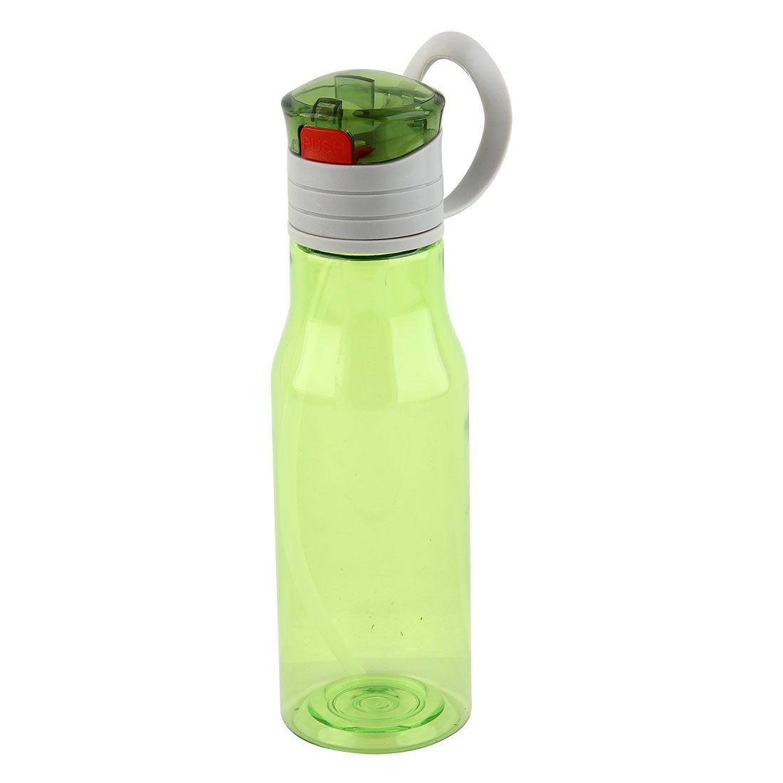 Outdoor Sports Plastic Straw Water Bottle Portable Fruit Juice Mug Cycling Canteen Camping Kettle Green 410ml
