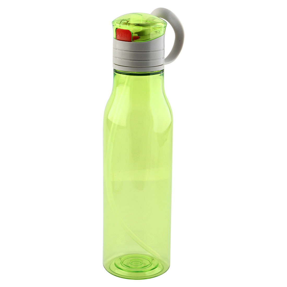 Outdoor Sports Plastic Straw Water Bottle Portable Fruit Juice Mug Biking Canteen Hiking Kettle Green 570ml