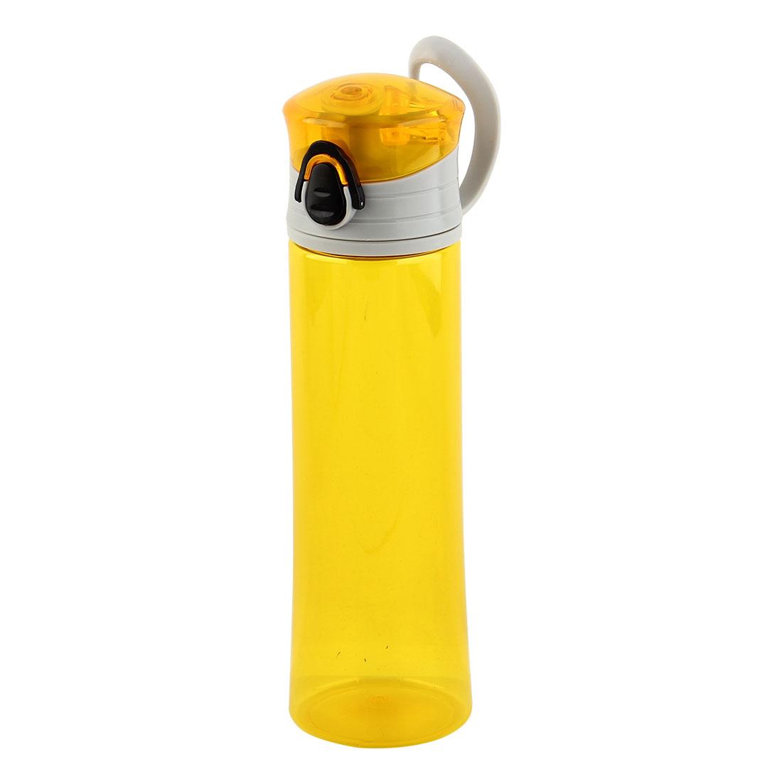 Plastic Portable Water Bottle Fruit Juice Mug Biking Driving Canteen Travelling Hiking Kettle Yellow 400ml