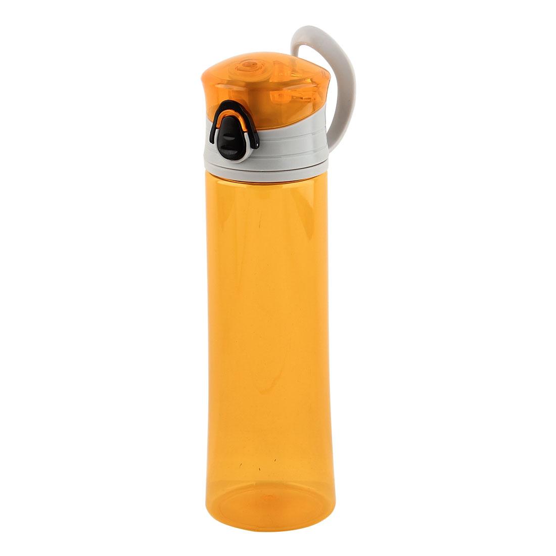 Plastic Portable Water Bottle Fruit Juice Mug Biking Driving Canteen Travelling Hiking Kettle Orange 400ml