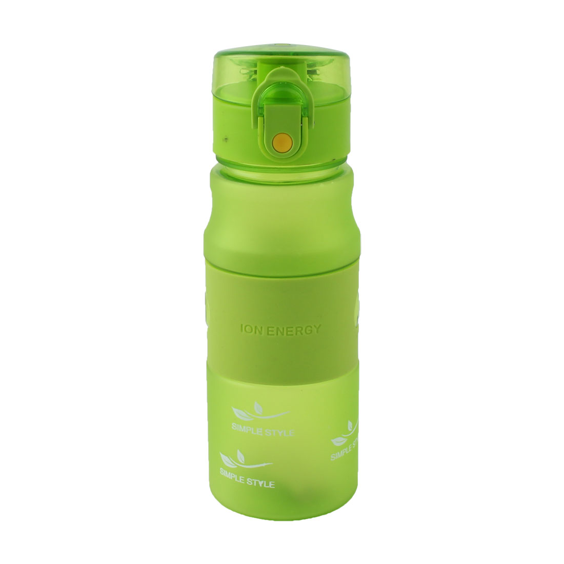 Outdoor Plastic Letter Pattern Frosted Cup Running Hiking Mug Sports Straw Water Bottle Green 480ml