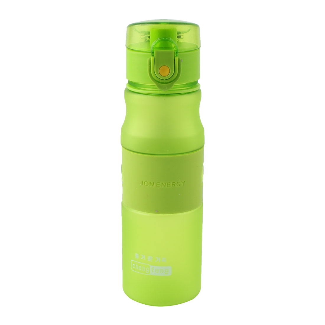Travel Plastic Frosted Tea Juice Cup Handy Sports Drinking Straw Water Bottle Green 550ml