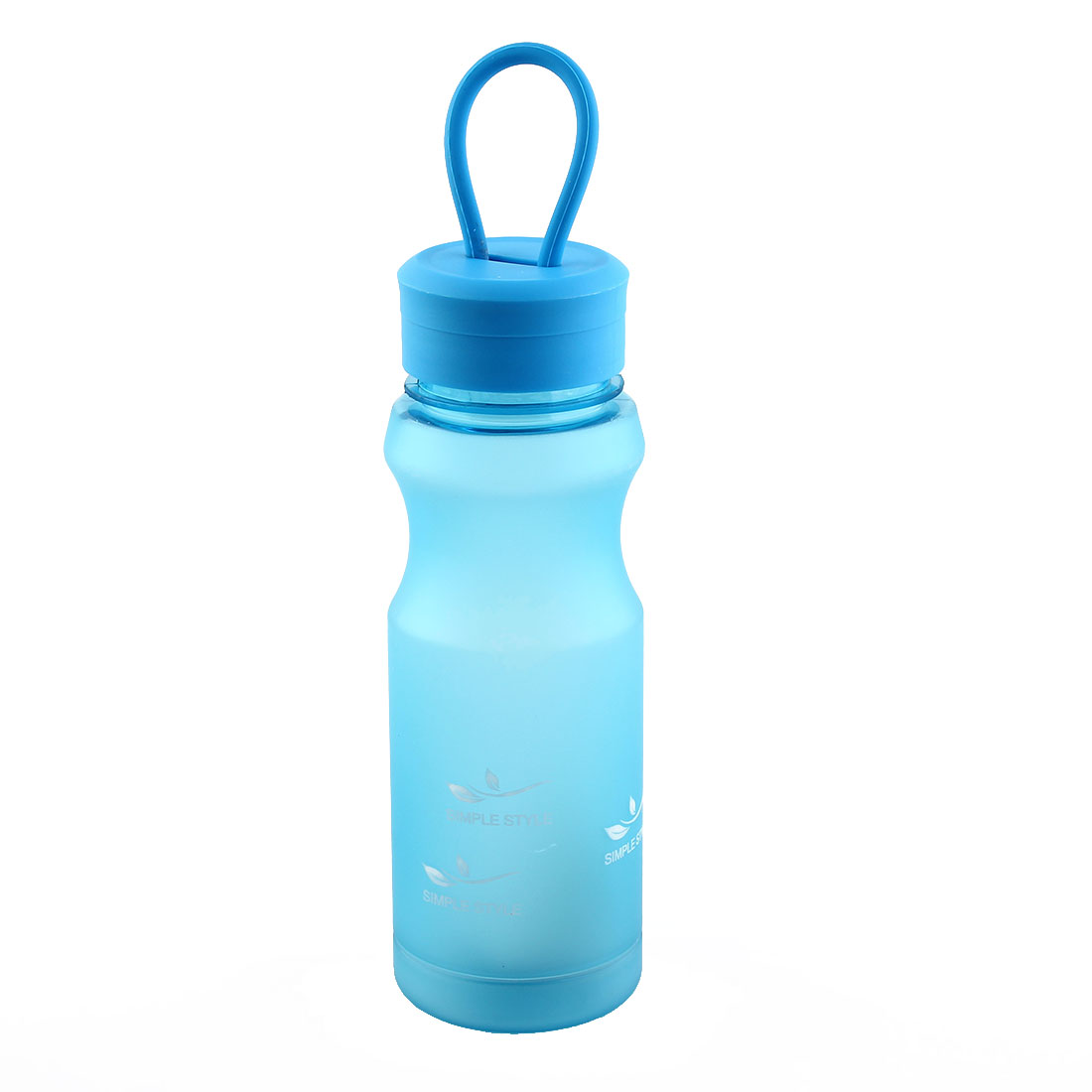 Outdoor Travel Plastic Letter Pattern Running Water Bottle Frosted Tea Cup Mug Biking Sports Kettle Blue 500ml