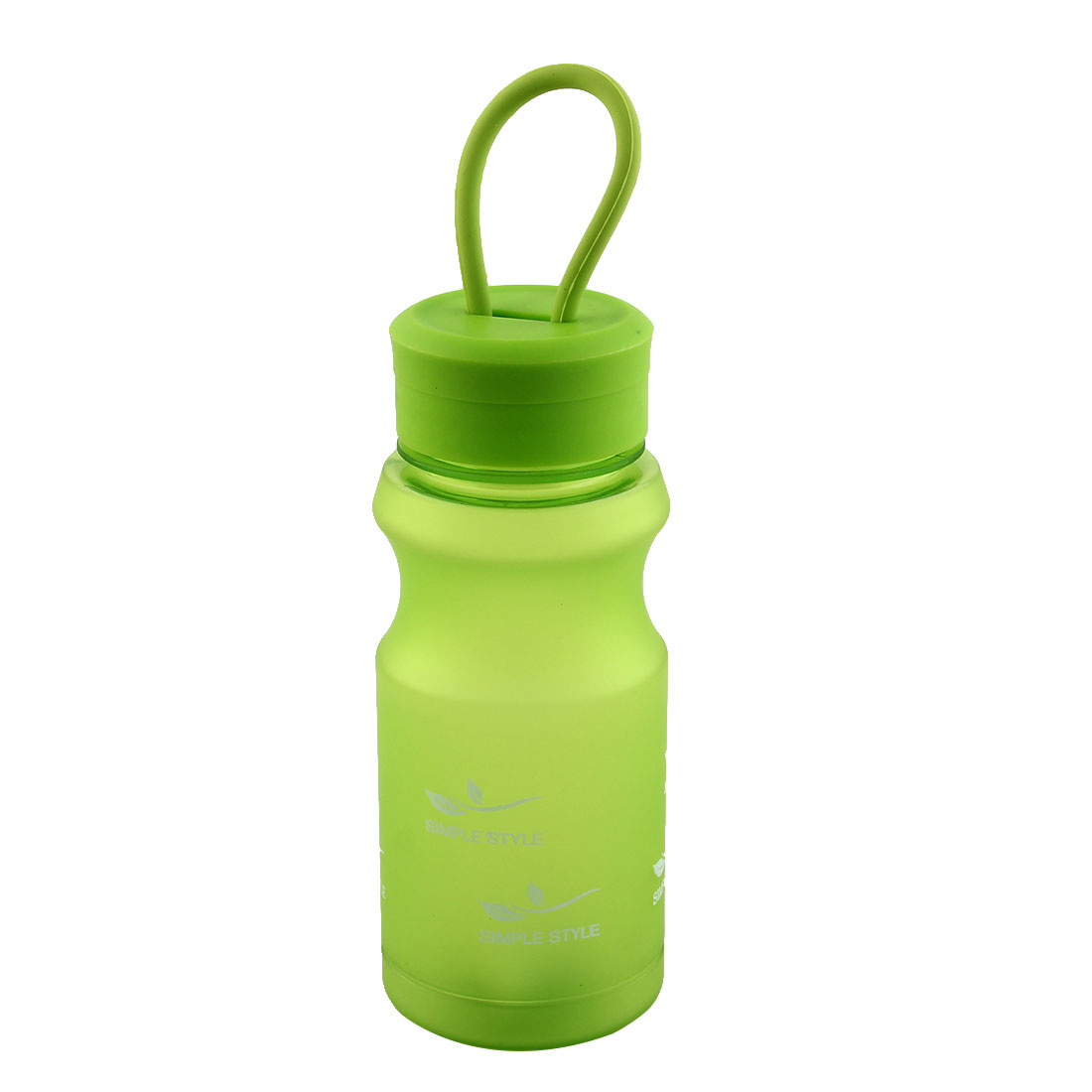 Outdoor Travel Plastic Letter Pattern Running Water Bottle Frosted Tea Cup Mug Biking Sports Kettle Green 400ml