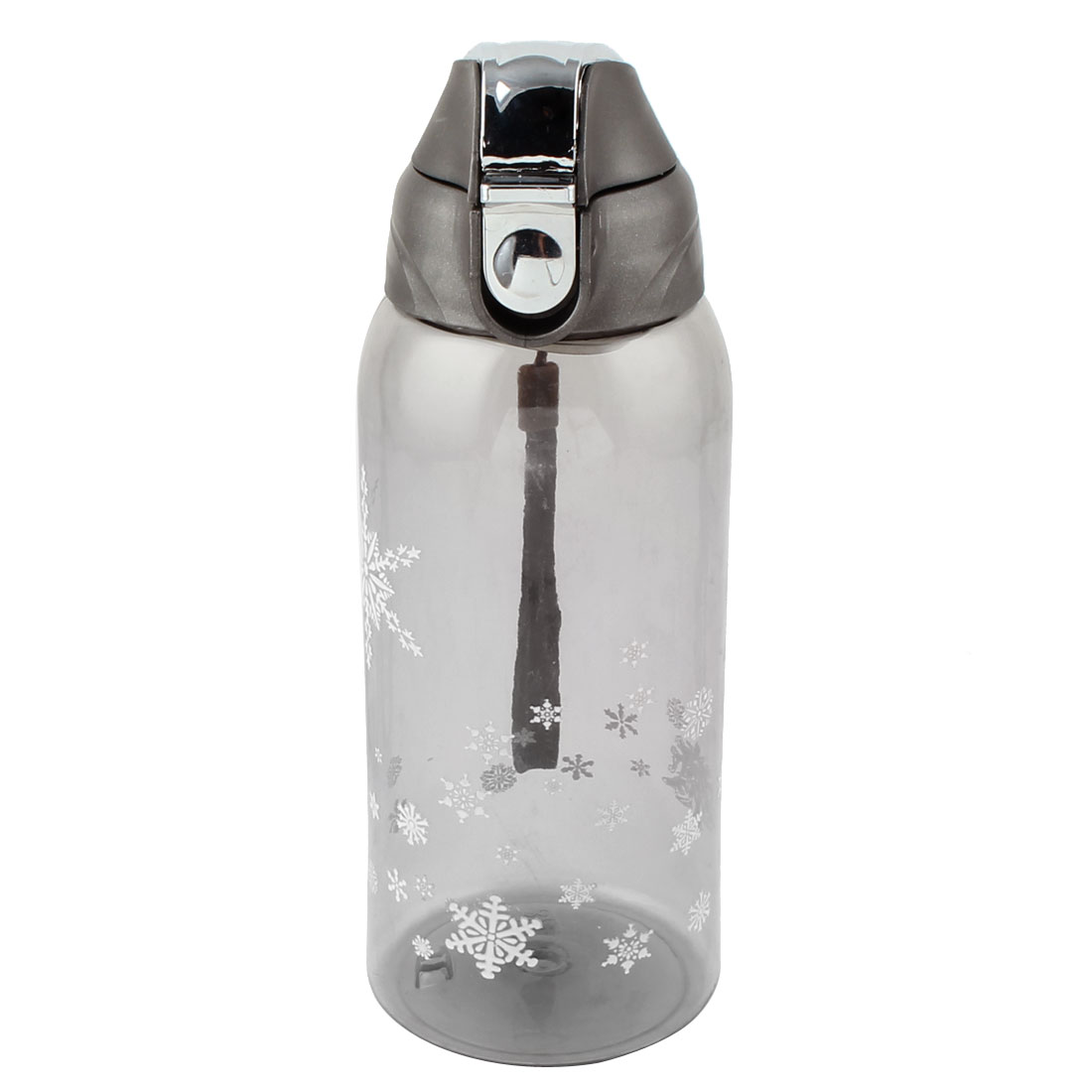 Outdoor Travel Plastic Fruit Juice Tea Cup Water Bottle Running Sports Kettle Gray 800ml
