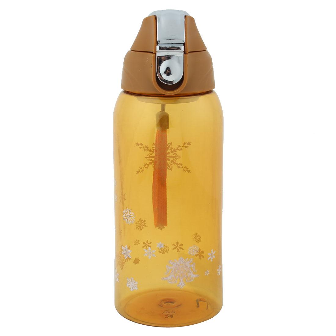 Outdoor Travel Plastic Fruit Juice Tea Cup Water Bottle Running Sports Kettle Dark Yellow 800ml
