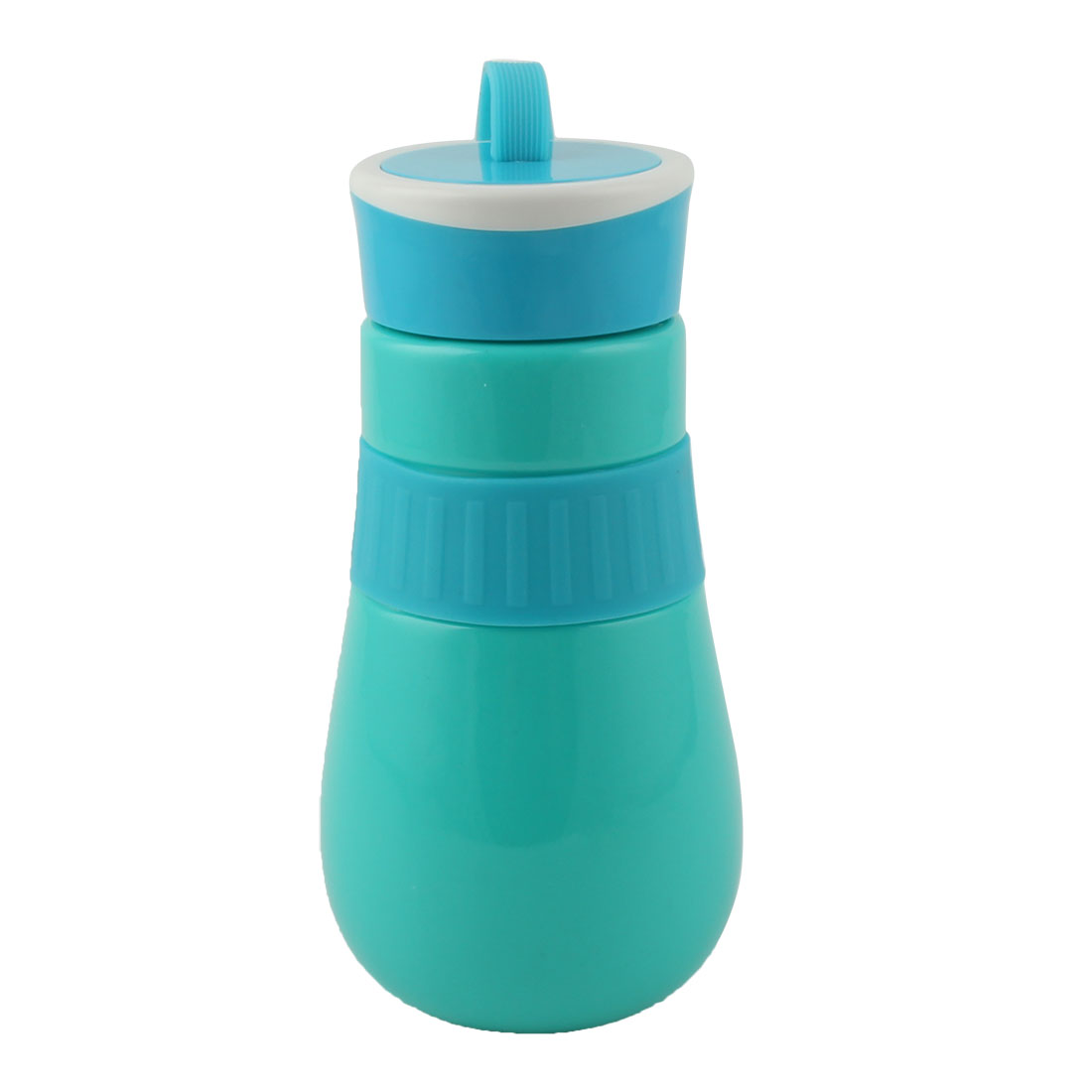 Student Travel Plastic Portable Water Tea Drinking Bottle Mug Sports Hiking Cup Blue 410ml