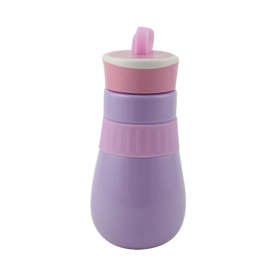 Student Travel Plastic Portable Water Tea Drinking Bottle Mug Sports Hiking Cup Purple 410ml
