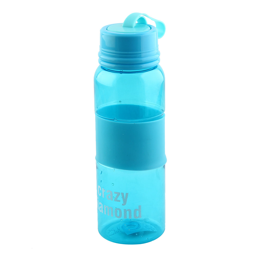 Outdoor Sports Plastic Letter Print Cup Portable Water Bottle Traveling Mug Biking Kettle Blue 580ml