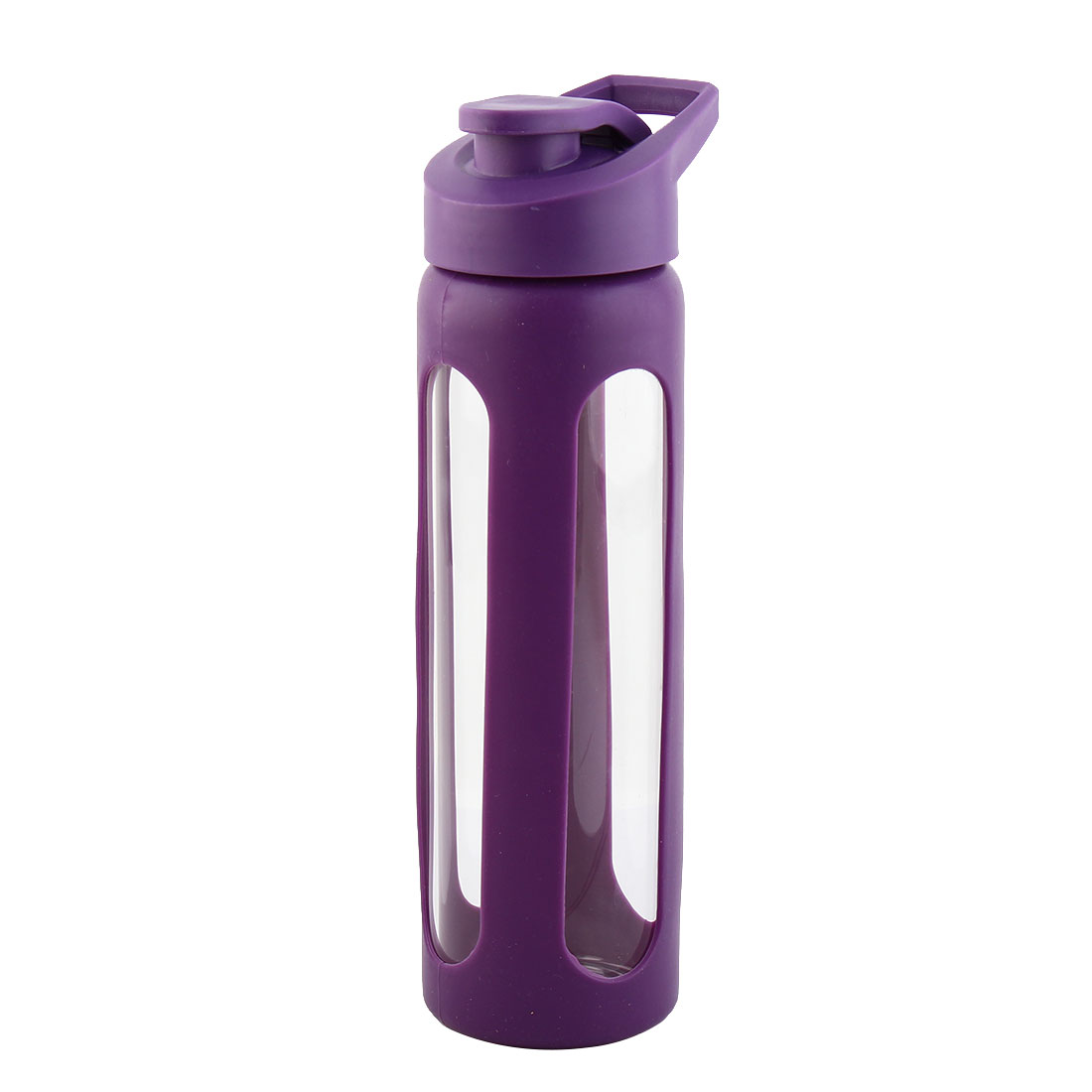 Silicone Sleeve Water Bottle Camping Cup Portable Driking Mug Cycling Driving Canteen Hiking Kettle Purple 550ml