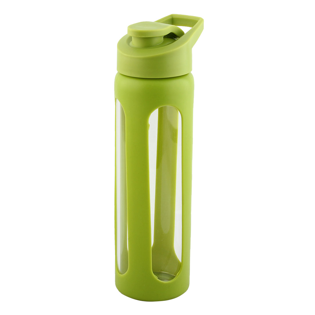 Silicone Sleeve Water Bottle Camping Cup Portable Driking Mug Cycling Driving Canteen Hiking Kettle Green 550ml